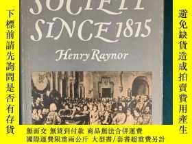 二手書博民逛書店Music罕見& Society Since 1815【自181