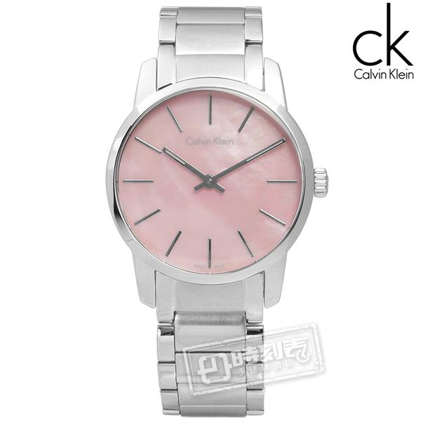 CK / K2G2314E / 都會女伶不鏽鋼腕錶 粉色 31mm