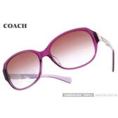 COACH 太陽眼鏡 COS8039F 504368 (紫) 都會經典LOGO款墨鏡 # 金橘眼鏡