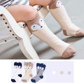 韓國拼色狐狸立體止滑中筒襪  童襪 止滑襪 中筒襪
