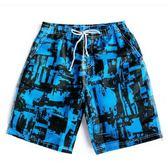 夏季寬鬆大碼速干沙灘褲男條紋褲泳褲海灘褲
