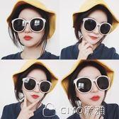 女士韓版羅馬假日墨鏡太陽眼鏡白色偏光鏡 ciyo黛雅