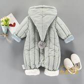 男女寶寶秋冬裝套裝0一1歲嬰兒衣服潮加厚連身衣保暖冬季外出抱衣