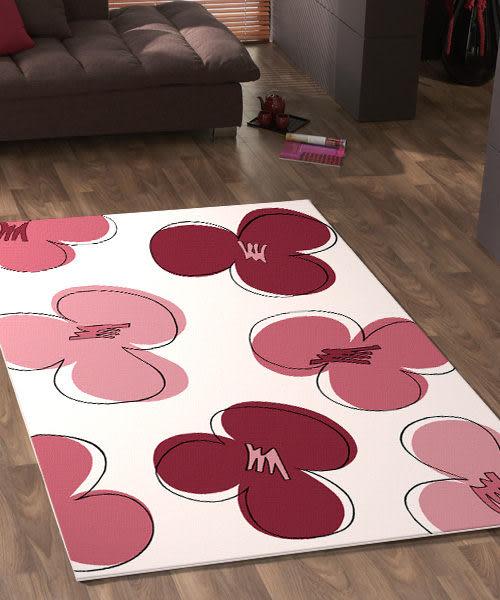 范登伯格 花草集★粉系浪漫絲質地毯-160x230cm