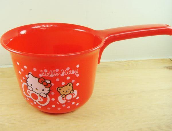 ~奶爸商城~日本帶回 KITTY 水瓢 水勺沐浴用具660ml 紅 206436