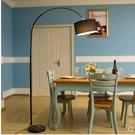 110V-220V 簡約客廳臥室書房落地燈時尚彩虹黑白調光落地釣魚燈--不送光源