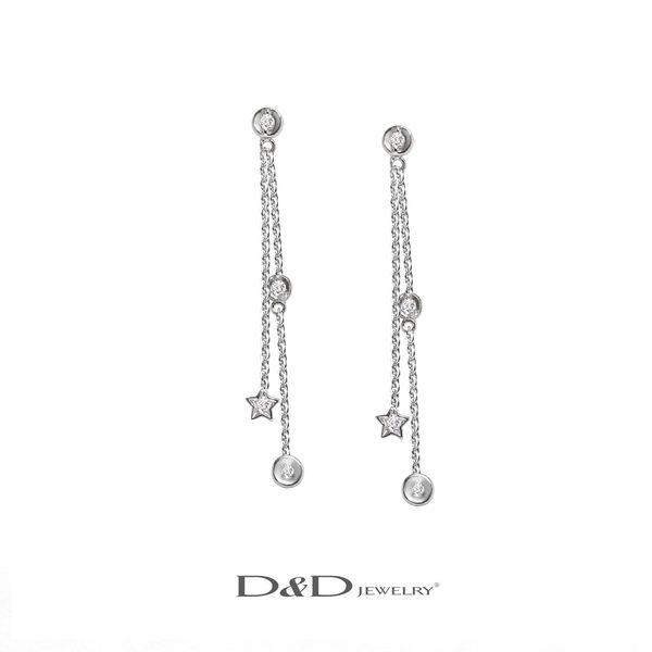 輕奢珠寶系列~585K天然鑽石耳環