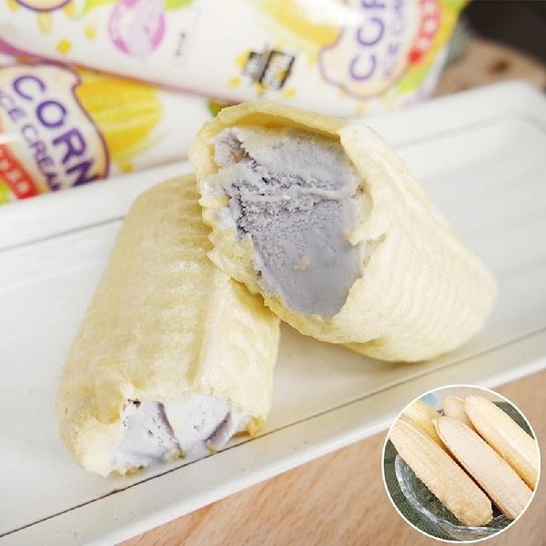 老爸ㄟ廚房.古早味玉米冰淇淋 芋頭口味 (55g/支,共十支)...愛食網