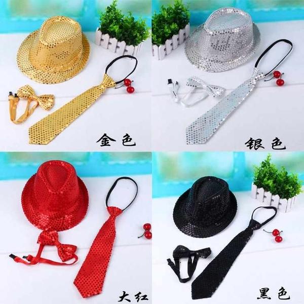 A0413_亮片領帶_36cm#萬聖面具面罩眼罩眼鏡帽帽子臉彩假髮髮圈髮夾變裝派對