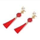 新年耳飾 喜慶新年紅色雙囍耳釘適合過年的耳環結婚新娘氣質耳飾耳夾【快速出貨八折鉅惠】