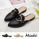 穆勒鞋-韓版時尚尖頭平底鞋
