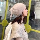 月子帽 帽子女秋冬天韓版日系百搭純色韓國潮針織毛線產婦產后月子帽【雙11快速出貨八折】