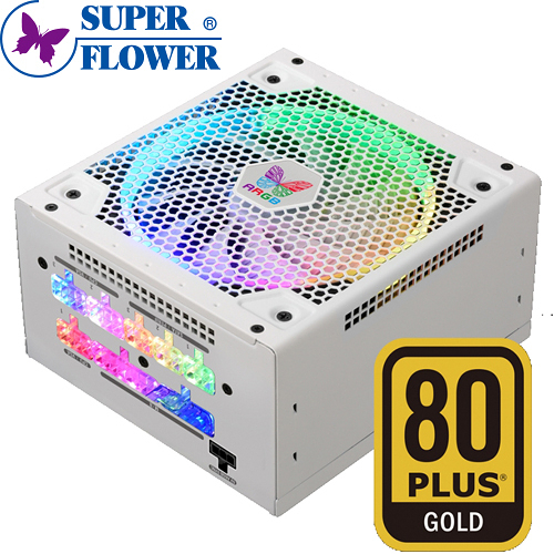 Super Flower 振華 Leadex III ARGB 550W GOLD 電源供應器 / 80+金牌+全模組+RGB / 5年保