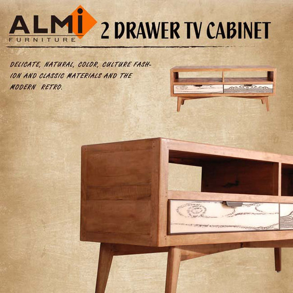 【ALMI】VINTAGE-TV 2 DRAWERS 雙抽電視櫃