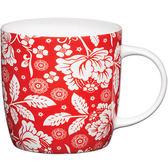 《KitchenCraft》骨瓷馬克杯(紅花)