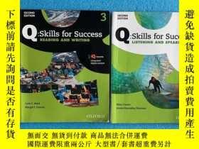 二手書博民逛書店Q:skills罕見for success 3 :Listening and speaking,reading a