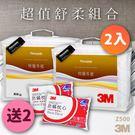 《量販2送2》3M Z500特暖冬被 標準雙人2入 送 3M防蹣枕頭標準型2入 防蹣 枕頭 棉被 被子 透氣 可水洗