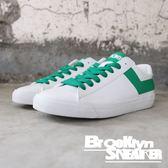 PONY 白綠 皮革 基本款 低筒 休閒鞋 男女款 (布魯克林) 63U1TS61GN