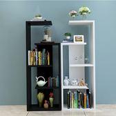 簡易置物架簡約現代臥室客廳創意置物柜書架落地多層隔斷架展示架WZ2842 【極致男人】TW