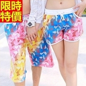情侶款海灘褲(單件)-衝浪防水亮麗炫彩獨特線條男女短褲66z42[時尚巴黎]