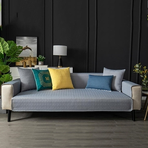 【新作部屋】冰絲乳膠涼感沙發墊-三人坐墊(多款顏色可挑選)典雅珠光灰/三人坐墊