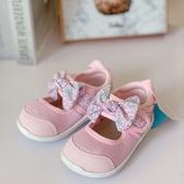 《7+1童鞋》日本 IFME 寶寶機能 蝴蝶結 學步涼鞋 E422 粉色