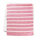 NON-NO 紗布橫條毛巾 - 粉色【愛買】