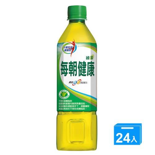 每朝健康綠茶650ml*24【愛買】