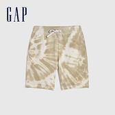 Gap男裝 碳素軟磨系列法式圈織 時尚紮染軟休閒褲 683860-灰粽紮染
