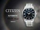 【時間道】CITIZEN 星辰 Mechanical 都會紳士機械腕錶/箱型玻璃深藍面鋼帶(NK0000-95L)免運費