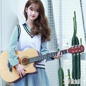 初學者吉他男女學生練習民謠吉他38寸木吉它新手入門通用樂器 QQ22065【艾菲爾女王】