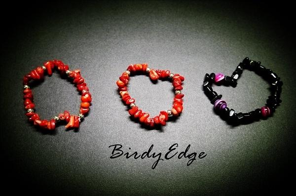 【Birdy Edge】紅色 小碎石 日本銀珠 Remix
