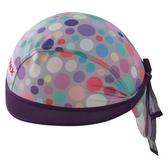 自行車頭巾 抗紫外線-炫彩繽紛點點設計男女單車運動頭巾73fo50[時尚巴黎]