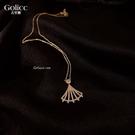 項鍊 設計師款扇形女小眾品牌氣質網紅精致鎖骨鍊新款飾品 - 歐美韓熱銷