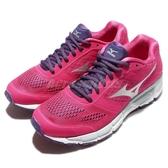 Mizuno 慢跑鞋 Synchro MX 慢跑 馬拉松 基本款 紫 銀 女鞋 運動鞋【PUMP306】 J1GF161904