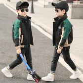 童裝風衣男童秋冬裝外套兒童加厚開衫中大童夾棉洋氣夾克-新主流