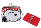【卡漫城】 Snoopy 雙珠扣式 零錢包 ㊣版 史努比 史奴比 糊塗塔克 花生漫畫 Peanuts Wood 日版