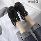 MG 厚底鞋女-冬季英倫風復古厚底單鞋高跟鬆糕軟妹小皮鞋女鞋