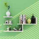 墻壁架子隔板墻上置物架 現代簡約客廳創意書架電視背景壁掛裝飾