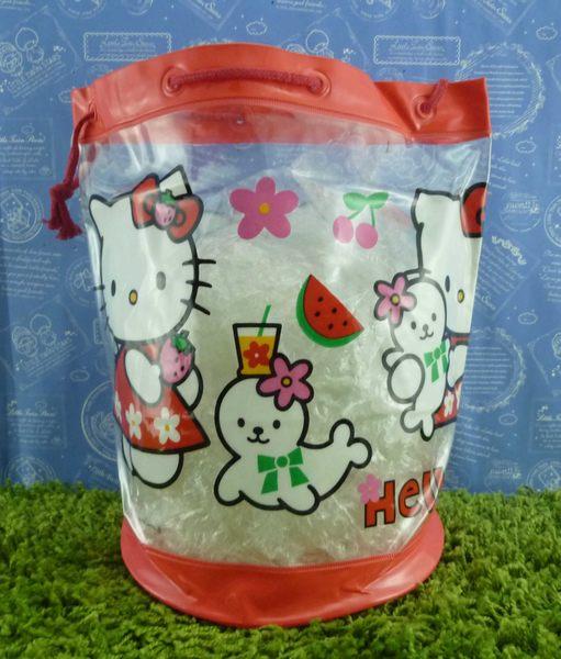 【震撼精品百貨】Hello Kitty 凱蒂貓~縮口防水後背包~西瓜【共1款】