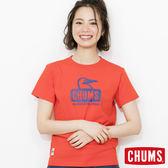 CHUMS 日本 女 Booby Face 純棉短袖T恤 火紅 CH111011R034