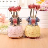 水果叉歐式水果叉不繡鋼水果叉子韓國家用兒童創意可愛水果叉套裝甜品叉 伊芙莎