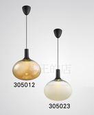 【燈王的店】後現代燈飾 LED 12W 黃光3000K 吊燈 ☆左圖電鍍玻璃305012 ☆右圖磨砂玻璃305023