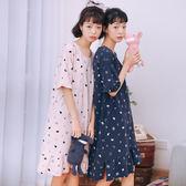 【618】好康鉅惠睡裙女夏純棉短袖韓版甜美睡衣女夏學生寬鬆