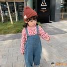 寶寶牛仔背帶褲春秋男女童嬰兒童吊帶褲子【淘嘟嘟】