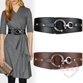 (聖誕交換禮物)腰封女士時尚毛衣寬腰帶皮質松緊彈力裝飾配裙子大衣黑色風衣皮帶