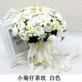 新款創意手捧花拍照婚紗照攝影道具仿真韓式婚禮新娘拋花手拿花束 春生雜貨