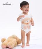 Hallmark Babies 擁抱FF熊男女嬰短袖包屁衣(兩件組) FH1-E02-20-BU-MW