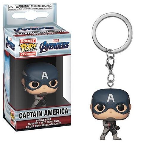 【 Funko 】  POP!系列 POP鑰匙圈 復仇者聯盟:終局之戰 - 美國隊長╭★ JOYBUS玩具百貨