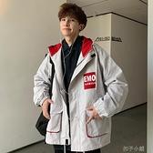 新款工裝外套男士秋冬季韓版潮流夾克潮牌帥氣寬鬆連帽上衣服 【全館免運】